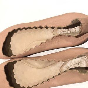 Gently worn Chloe Scalloped Flats